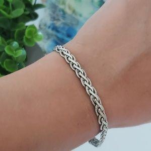 Sterling Silver Bracelet, Braided